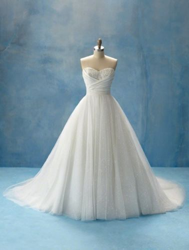white Ivory Sweetheart Ball Gown Wedding Dresses Custom Size 6 8 10 ...