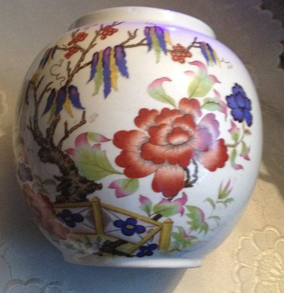Vintage C1940s Hand Painted Sadler Vase Or Open By Buyfromgroovy