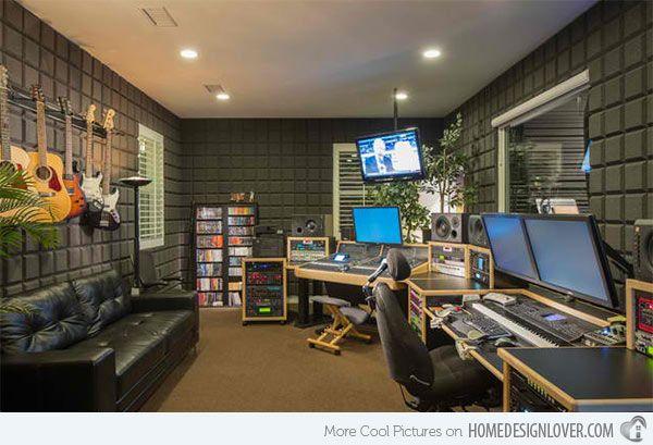 15 Design Ideas For Home Music Rooms And Studios Music Studio