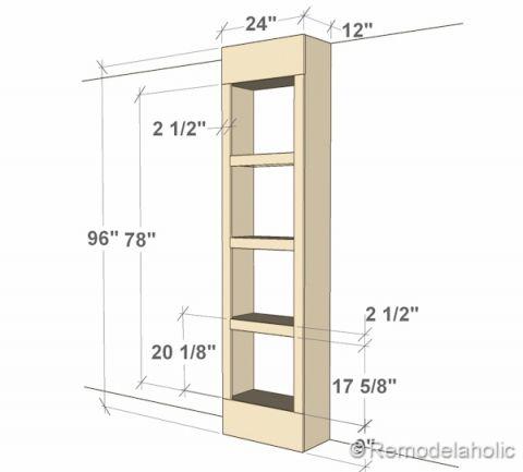 Dimensions Of Bult In Bookshelves