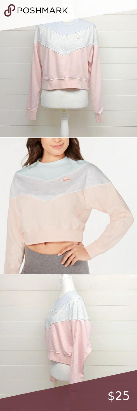Nike Color Block Cropped Sweatshirt Nike Color Block Cropped Sweatshirt Size Large Size Down For Oversized Look Made I Crop Sweatshirt Color Block Sweatshirts [ 1740 x 580 Pixel ]