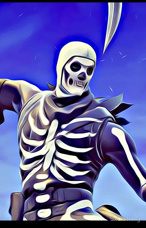 Skull Trooper Fortnite Coloring Pages