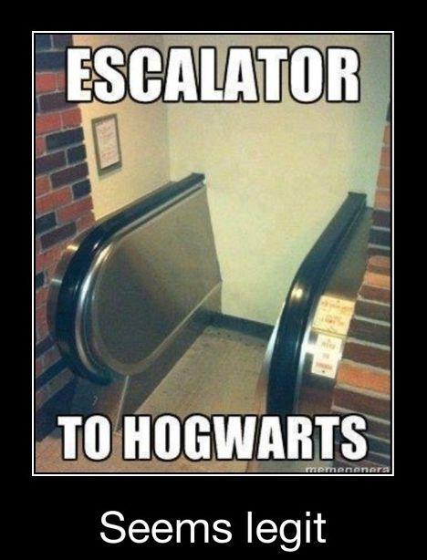 Escalator to Hogwarts.