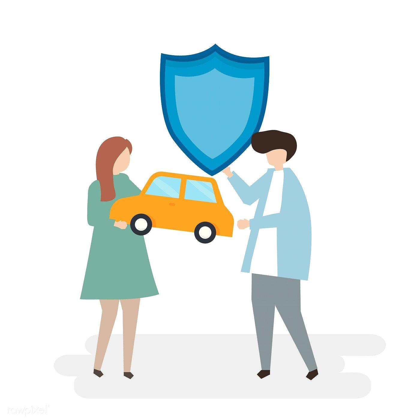 Download premium vector of illustration of car insurance