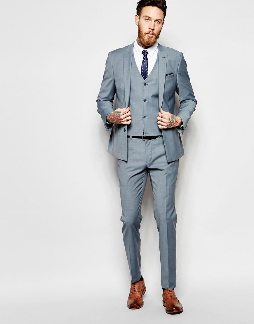 ASOS Skinny Suit in Light Blue | Groom's look | Pinterest | Suits ...