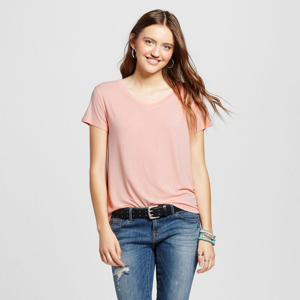 0c09b3c89 Women's Short Sleeve Softest V-Neck Tee Pink Xxl - Mossimo Supply Co ...