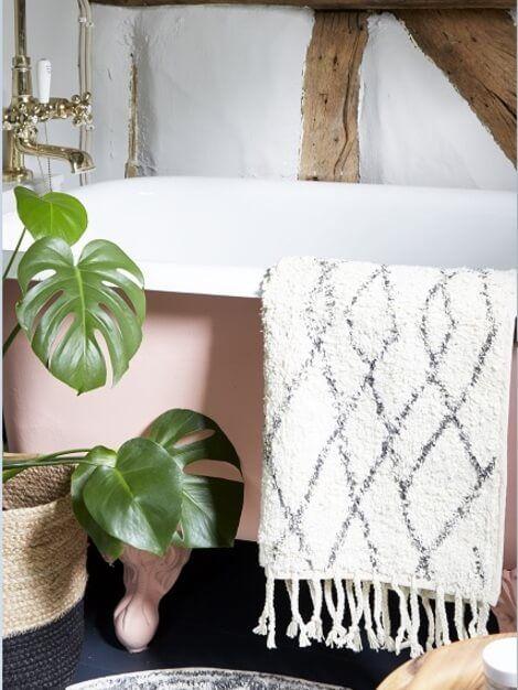 diamond cotton bath mat - Cotton Bathroom Mat