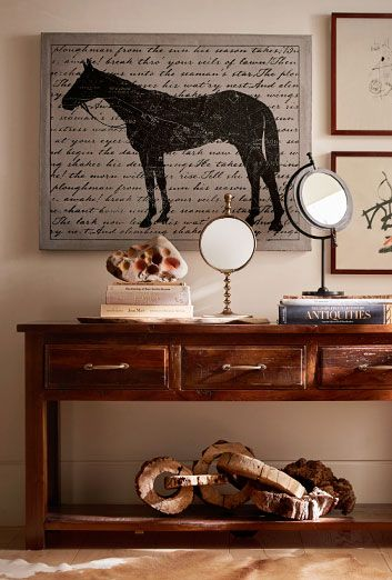 Deep wood tones and a few accent pieces will be the key to ...