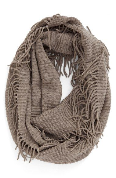 580a7c5503470 Rib Knit Fringe Infinity Scarf at Nordstrom.com. Textured with a cozy  ribbed knit, this lightweight scarf features playful fringe trim and is  designed to ...