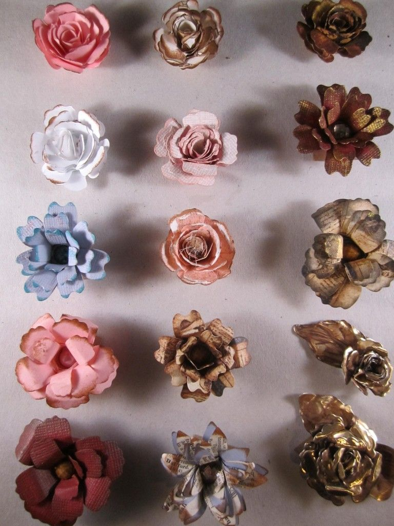 How to Make Handmade Flowers with Spellbinders Bitty Blossoms and Bauble Blossoms Dies