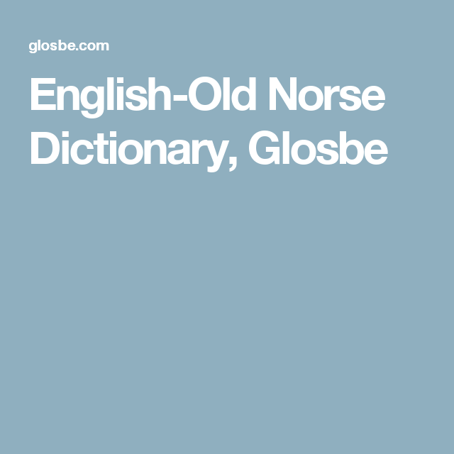 English Old Norse Dictionary Glosbe Symbols Pinterest