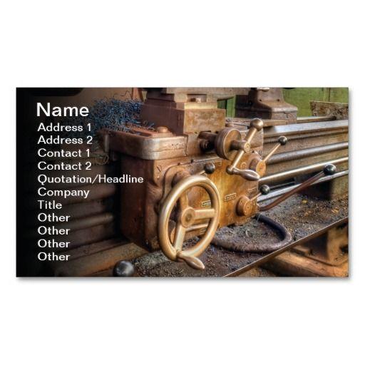 Old Lathe Machine Business Card Template Bizcardstudio Co Uk Lathe Machine Construction Business Cards Business Cards