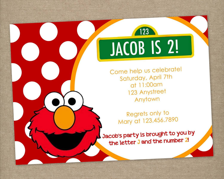 Elmo Birthday Invitations Printable   Elmo Party Invitations   Party ...