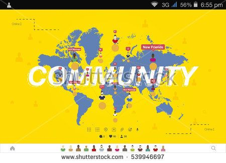 Banner global community and teamwork world map on background flat banner global community and teamwork world map on background flat vector illustration map gumiabroncs Image collections