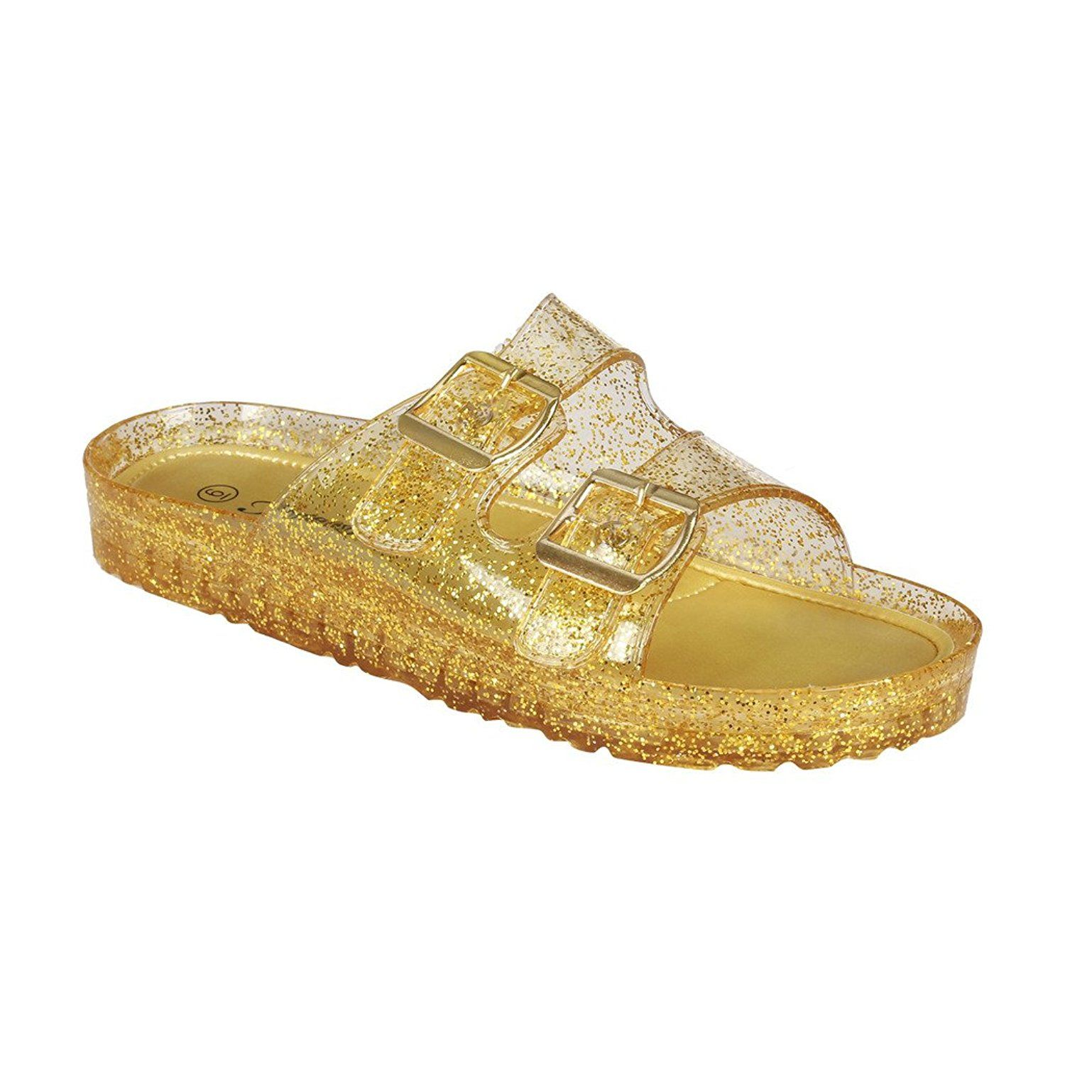 cbddc40f1 Coshare Women s Fashion Birkenstock-style Buckle Slides Arizona Soft  Footbed Sandals -- You can get more details here - Jelly Sandals