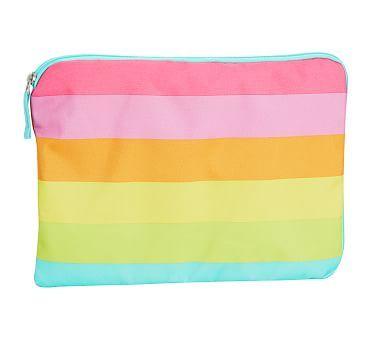 Wet Dry Bag Fairfax Pink Rainbow Stripe W Aqua Trim