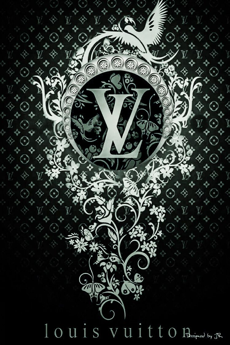 Silver LV IPhone wallpaper Pinterest Wallpaper