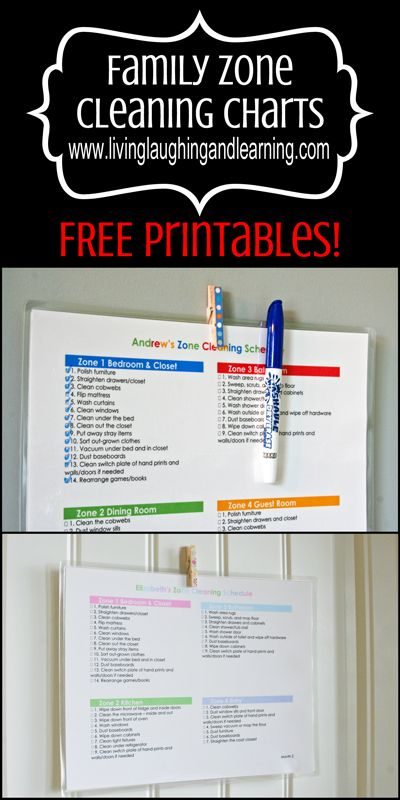 Free printable zone cleaning charts for the family at living laughing and learning livinglaughingandlearning three great color combinations to also rh pinterest