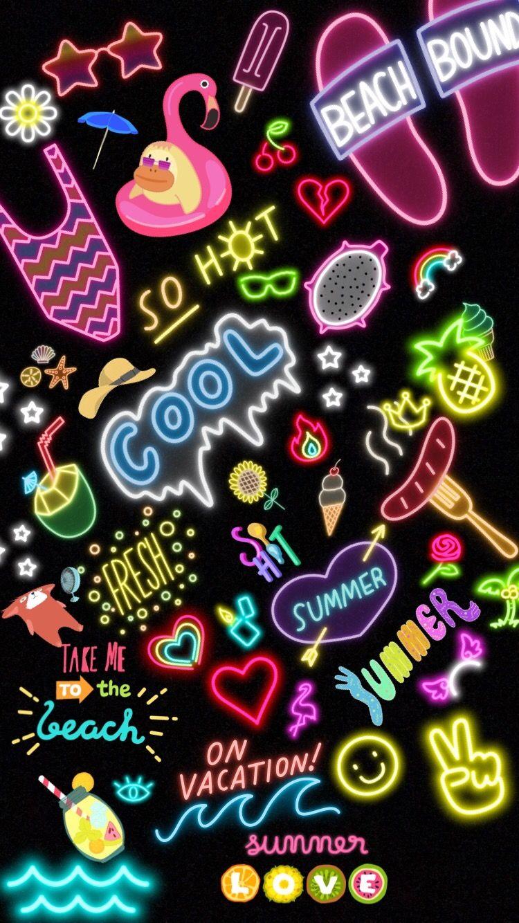 Cool Background Background Wallpaper Emoji Snapchat Wallpaper Iphone Cute Neon Wallpaper Aesthetic Iphone Wallpaper