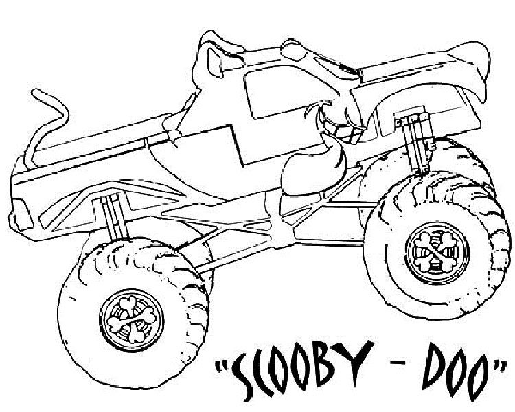 scooby doo monster truck coloring pages check more at httpcoloringareascom