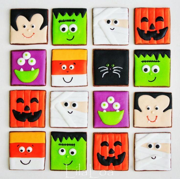 LilaLoa: Easy-Peasy Halloween Cookies #halloweencookiesdecorated