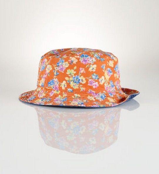 23f6d5c33a8f5 Ralph Lauren Polo Navy Blue Orange Reversible Bucket Hat S M Teens Mens  Ladies  RalphLauren  Bucket  casual