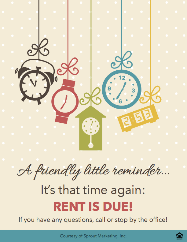 Download This Fun Rent Is Due Reminder For Your