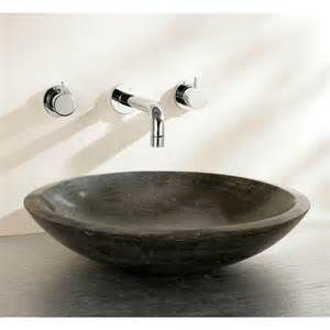 Finwood Designs Shallow Stone Countertop Basin Uk Bathrooms