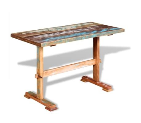 vidaXL Pedestal Dining Table Solid Reclaimed Wood 472 Sea you