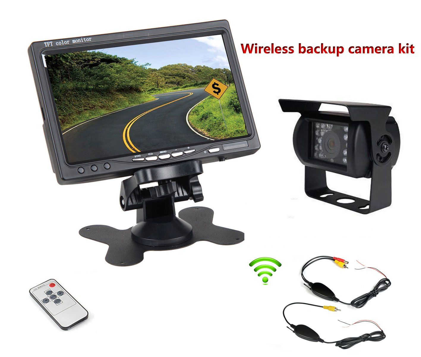 GERI DC 12V 24V Vehicle Backup Camera System Rear View