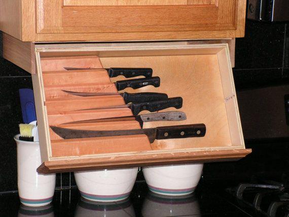 Under Cabinet Knife Rack Cabinet Spice Rack Under