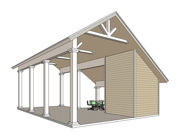 Rv Carport Plan 006g 0163 Outdoor Living Carport Plans Carport Garage Rv Garage