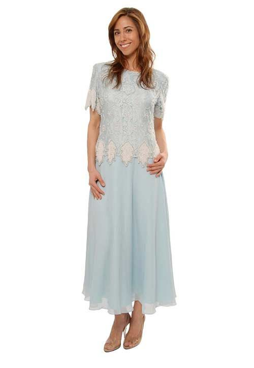 a98197a2ed1 Ice blue designer beaded mother of the bride plus size dresses - 1x ...