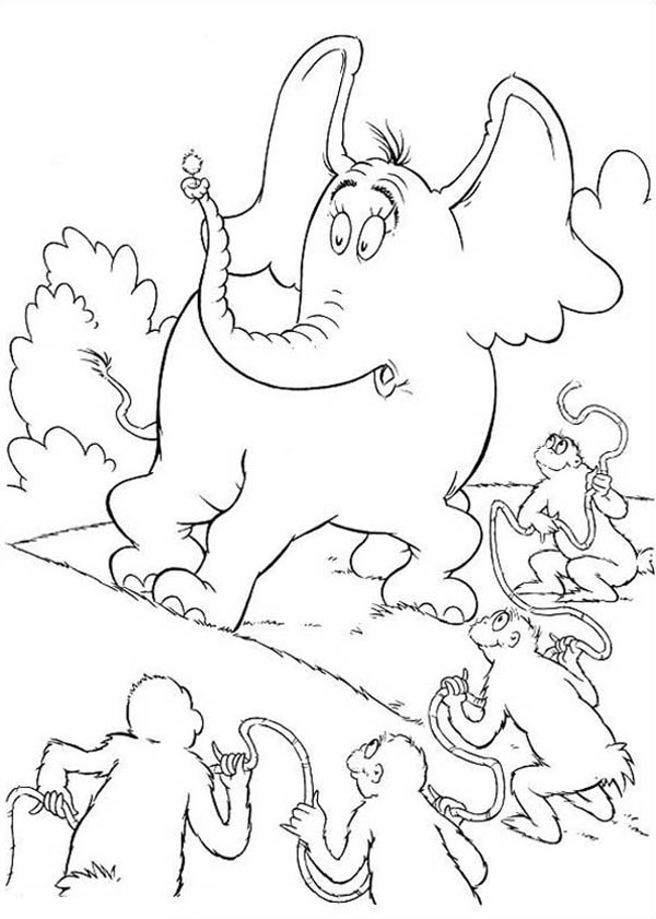 Horton Hears A Who Surrounded By The Wickershams Coloring Pages Bulk Color Coloring Pages Coloring Pictures Minions Coloring Pages