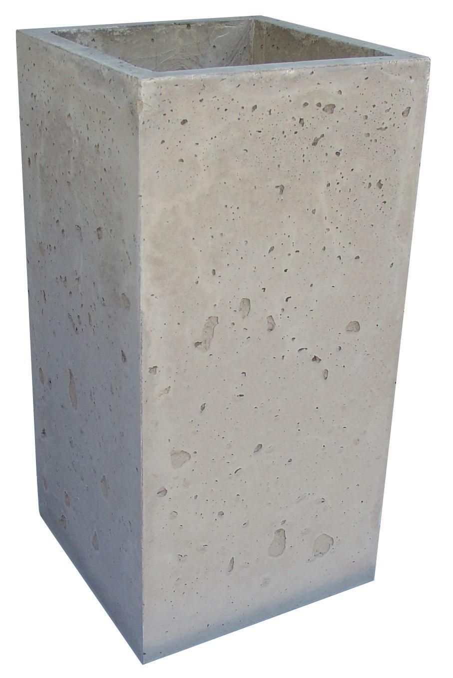 Cement Planters | Concrete Tall Planter San Antonio