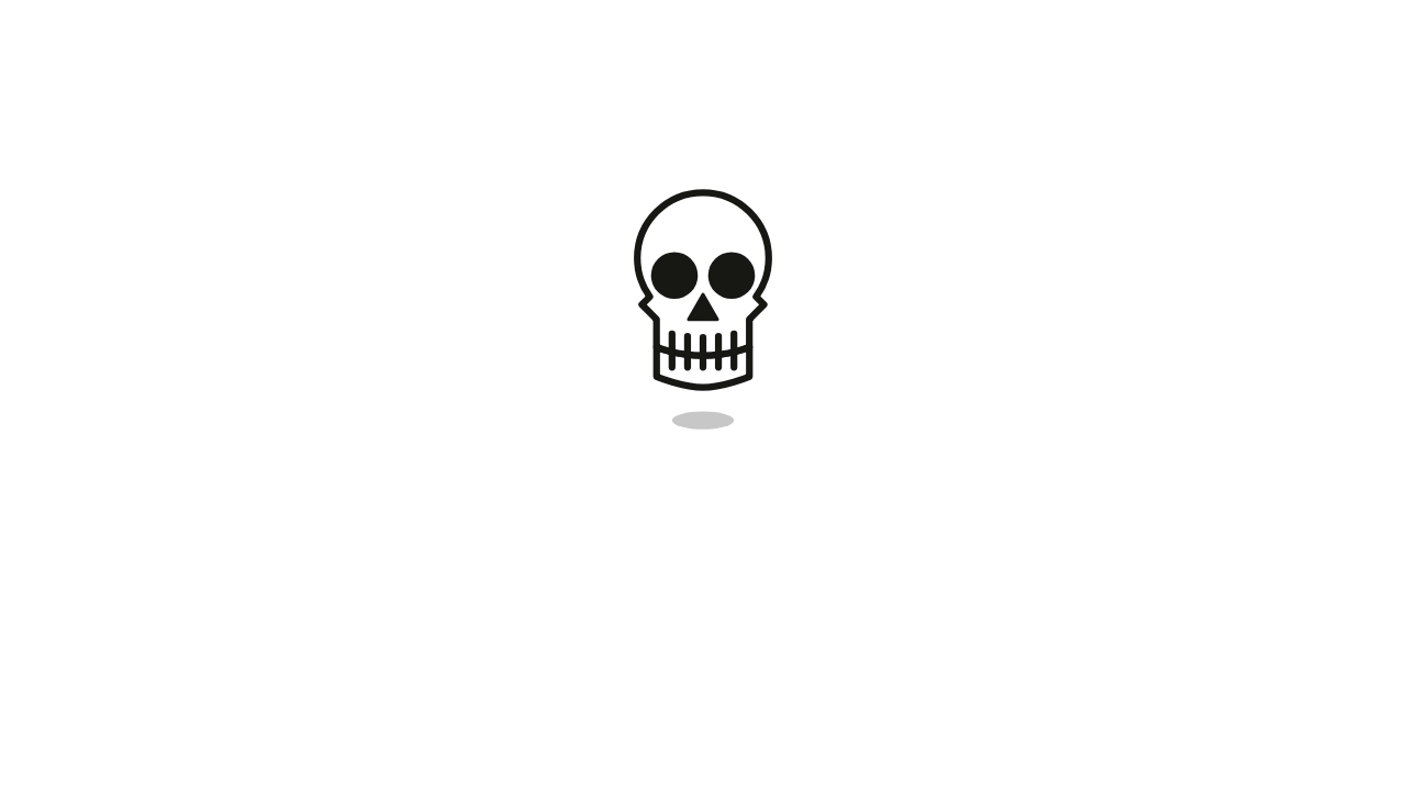 An Animated Svg Skull With Some Tongue Out Action Animation Pen Skull