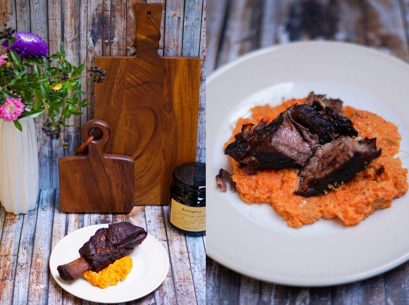 Stewed Beef Ribs with Sweet Potato Mash {Smitten Kitchen - Eine