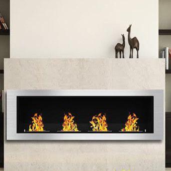 Luxe Ventless Wall Mount Bio-Ethanol Fireplace