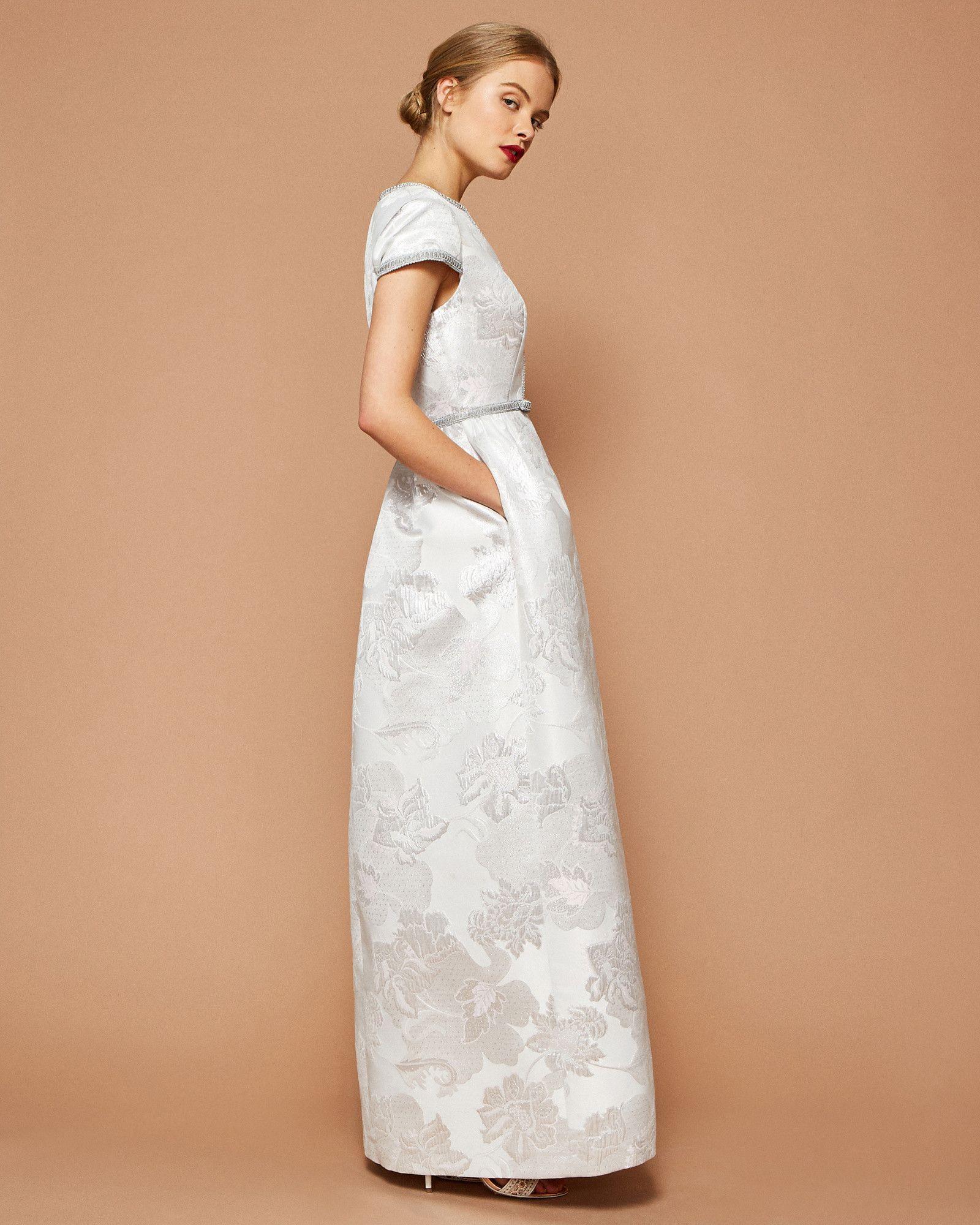 Maxikleid mit Baroque Blossom-Muster - Weiß  Kleider  Ted Baker