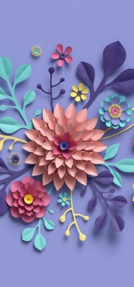 Flowers paper background wallpapers 38+ ideas