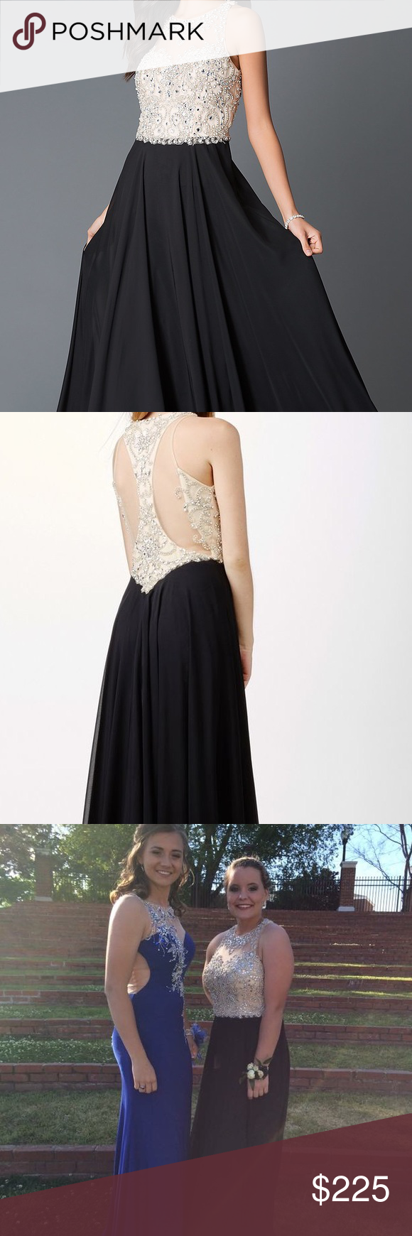 Prom dress black jvn by jovani prom dress elegant beaded top with