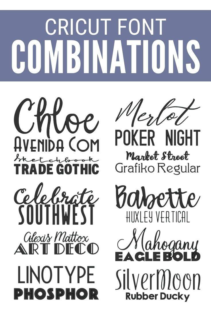Top 10 Best Cricut Fonts Combinations for Vinyl