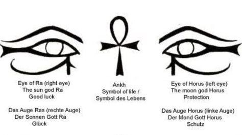 Black Ankh And Horus Eye Egyptian Tattoo Designsg 640360