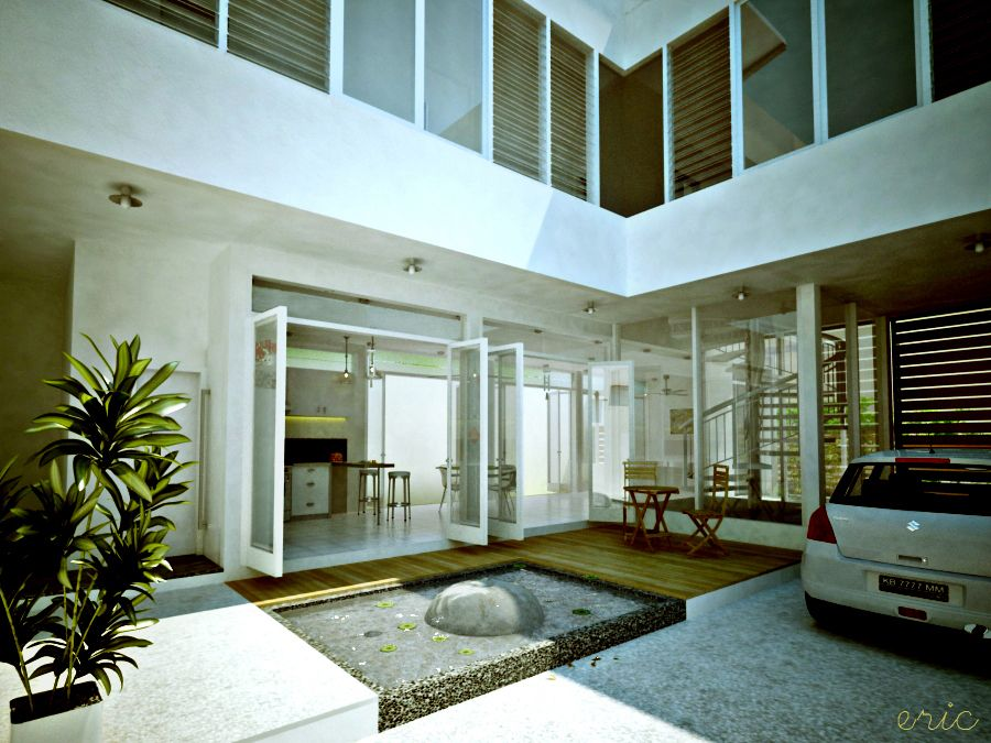 Chinese courtyard home design interior courtyards for Inner courtyard house plans