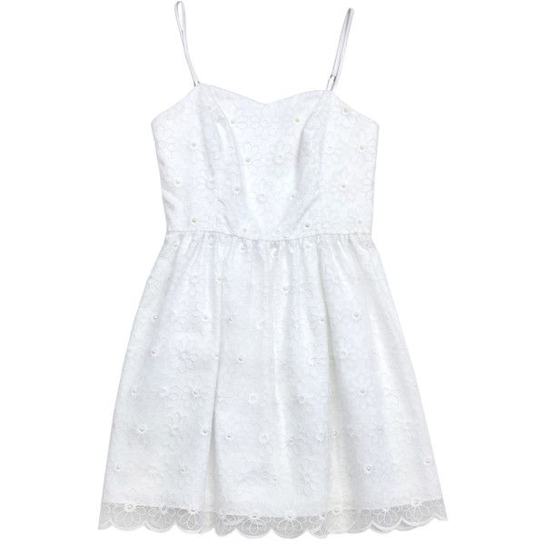 Pre-owned Lilly Pulitzer White Floral Spaghetti Strap Dress ($79) ❤ liked on Polyvore featuring dresses, white, floral print dress, flower pattern dress, lilly pulitzer, blossom dress and flower print dress