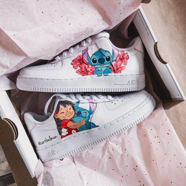 Lilo & Stitch x AF1 | THE CUSTOM MOVEMENT | Custom shoes diy