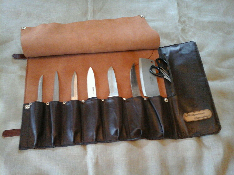 48a7280fe40f Купить Скрутка для ножей кожаная - скрутка для ножей, органайзер для  инструментов, Кожаная сумка