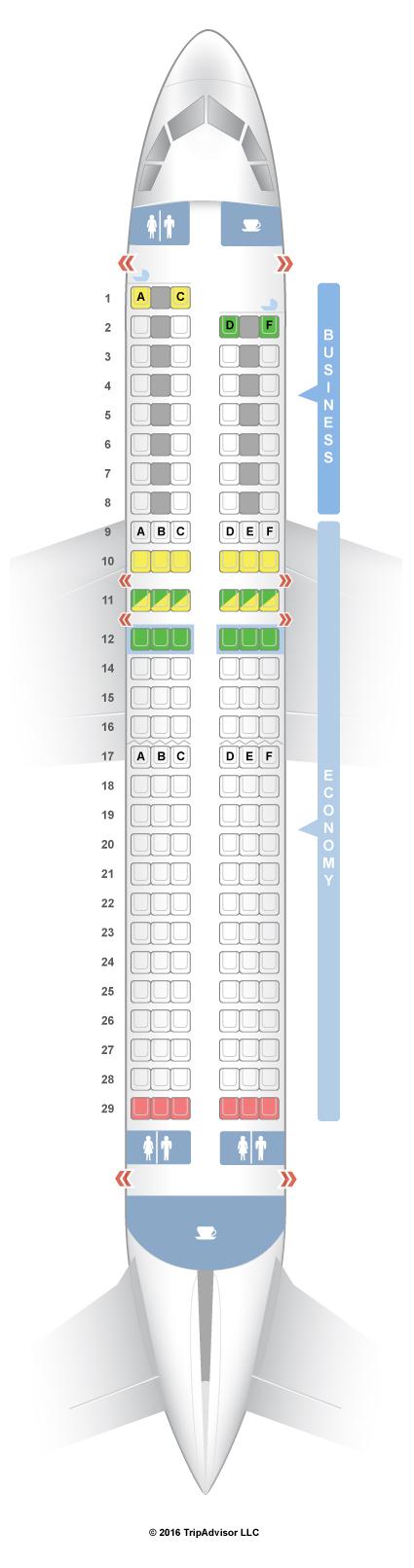 Seatguru Seat Map Air France Airbus A320 320 Europe Seatguru