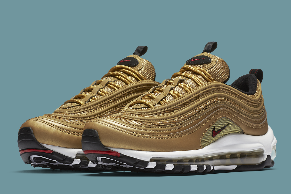womens air max 97 sneakers gold