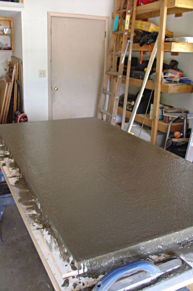 How To Build A Basic Concrete Countertop | Encimera de hormigón ...